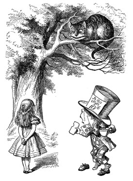 Alice, Cat and Hatter