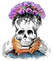 Day of the Dead Headdress Lady