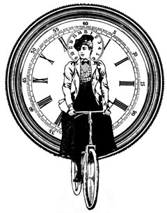Steampunk Bicycle Lady