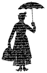 Silhouette Lady with Umbrella