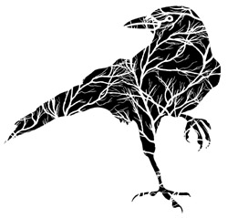 Raven with Tree Branches