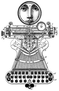 Steampunk Typewriter Girl