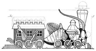 Steampunk Grasshopper Train